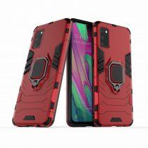 RMPACK Samsung Galaxy A41 Védőtok Ring Guard Gyűrűs 2in1 Tok Ütésálló - Kitámasztható TPU Hybrid Piros
