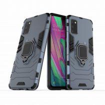 RMPACK Samsung Galaxy A41 Védőtok Ring Guard Gyűrűs 2in1 Tok Ütésálló - Kitámasztható TPU Hybrid Kék