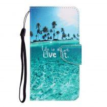 RMPACK Samsung Galaxy A41 Bankkártyatartóval Notesz Mintás Kitámasztható -RMPACK- Life&Dreams LD04
