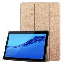 RMPACK Huawei MediaPad T5 10 Tok Notesz Kitámasztható Tri-Fold Rózsaarany