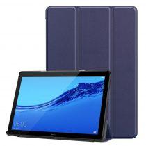 RMPACK Huawei MediaPad T5 10 Tok Notesz Kitámasztható Tri-Fold Sötétkék