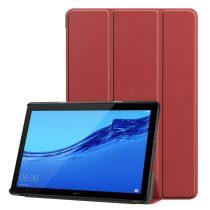RMPACK Huawei MediaPad T5 10 Tok Notesz Kitámasztható Tri-Fold Bordó