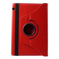 RMPACK Huawei MediaPad T5 10 Notesz Tok Forgatható 360' Kitámasztható Piros