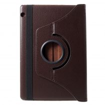 RMPACK Huawei MediaPad T5 10 Notesz Tok Forgatható 360' Kitámasztható Barna