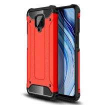 RMPACK Xiaomi Redmi Note 9S / Note 9 Pro Ütésálló Armor Tok Guard Series 2in1 Piros