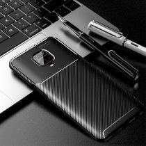 RMPACK Xiaomi Redmi Note 9S / Note 9 Pro Tok Szilikon TPU Carbon Fiber - Karbon Minta Fekete
