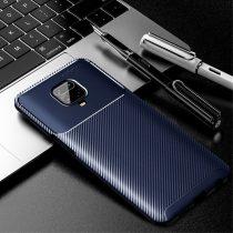 RMPACK Xiaomi Redmi Note 9S / Note 9 Pro Tok Szilikon TPU Carbon Fiber - Karbon Minta Sötétkék