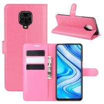 RMPACK Xiaomi Redmi Note 9S / Note 9 Pro Notesz Tok Business Series Kitámasztható Bankkártyatartóval Pink