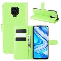 RMPACK Xiaomi Redmi Note 9S / Note 9 Pro Notesz Tok Business Series Kitámasztható Bankkártyatartóval Zöld