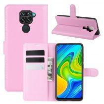 RMPACK Xiaomi Redmi Note 9 Notesz Tok Business Series Kitámasztható Bankkártyatartóval Rózsaszín