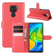 RMPACK Xiaomi Redmi Note 9 Notesz Tok Business Series Kitámasztható Bankkártyatartóval Piros