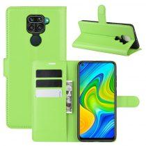 RMPACK Xiaomi Redmi Note 9 Notesz Tok Business Series Kitámasztható Bankkártyatartóval Zöld