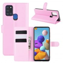 RMPACK Samsung Galaxy A21S Notesz Tok Business Series Kitámasztható Bankkártyatartóval Rózsaszín