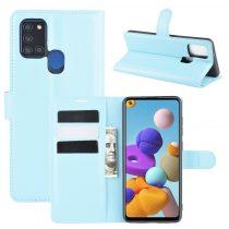 RMPACK Samsung Galaxy A21S Notesz Tok Business Series Kitámasztható Bankkártyatartóval Világoskék