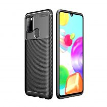 RMPACK Samsung Galaxy A21S Tok Szilikon TPU Carbon Fiber - Karbon Minta Fekete