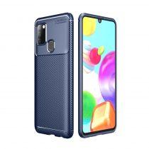 RMPACK Samsung Galaxy A21S Tok Szilikon TPU Carbon Fiber - Karbon Minta Sötétkék