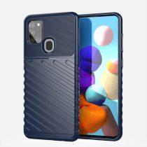 RMPACK Samsung Galaxy A21S Szilikon Tok Twill Ütésálló Thunder Series Kivitel Sötétkék