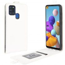 RMPACK Samsung Galaxy A21S Flip Tok Mágneses Fehér