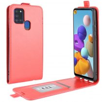 RMPACK Samsung Galaxy A21S Flip Tok Mágneses Piros