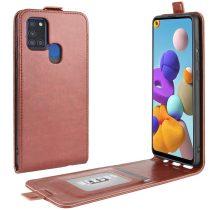 RMPACK Samsung Galaxy A21S Flip Tok Mágneses Barna