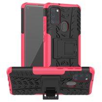 RMPACK Samsung Galaxy A21S Ütésálló Tok Kitámasztható 2in1 Hybrid Pink