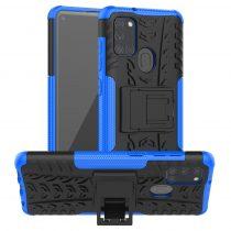 RMPACK Samsung Galaxy A21S Ütésálló Tok Kitámasztható 2in1 Hybrid Kék