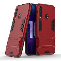 Honor 20 Lite 2in1 Tok Ütésálló - Kitámasztható TPU Hybrid Piros