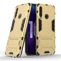 Honor 20 Lite 2in1 Tok Ütésálló - Kitámasztható TPU Hybrid Arany