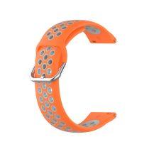 RMPACK Samsung Galaxy Watch 3 41mm Okosóra Szíj Pótszíj Óraszíj Hollow Style Narancssárga/Szürke
