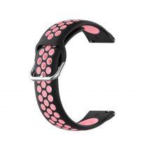 RMPACK Samsung Galaxy Watch 3 41mm Okosóra Szíj Pótszíj Óraszíj Hollow Style Fekete/Rózsaszín