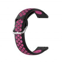 RMPACK Samsung Galaxy Watch 3 41mm Okosóra Szíj Pótszíj Óraszíj Hollow Style Fekete/Pink