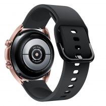 RMPACK Samsung Galaxy Watch 3 41mm Óraszíj Pótszíj Okosóra Szíj Szilikon Nature Fekete