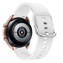 RMPACK Samsung Galaxy Watch 3 41mm Óraszíj Pótszíj Okosóra Szíj Szilikon Nature Fehér