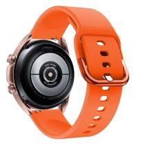 RMPACK Samsung Galaxy Watch 3 41mm Óraszíj Pótszíj Okosóra Szíj Szilikon Nature Narancssárga