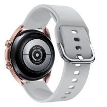 RMPACK Samsung Galaxy Watch 3 41mm Óraszíj Pótszíj Okosóra Szíj Szilikon Nature Szürke