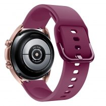 RMPACK Samsung Galaxy Watch 3 41mm Óraszíj Pótszíj Okosóra Szíj Szilikon Nature Lila