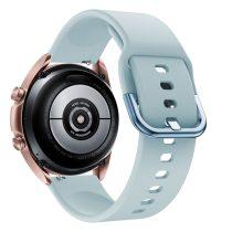 RMPACK Samsung Galaxy Watch 3 41mm Óraszíj Pótszíj Okosóra Szíj Szilikon Nature Világoskék