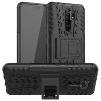 RMPACK Xiaomi Redmi 9 Ütésálló Tok Kitámasztható 2in1 Hybrid Fekete