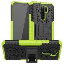 RMPACK Xiaomi Redmi 9 Ütésálló Tok Kitámasztható 2in1 Hybrid Zöld