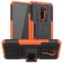 RMPACK Xiaomi Redmi 9 Ütésálló Tok Kitámasztható 2in1 Hybrid Narancssárga