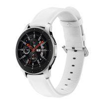 RMPACK Huawei Watch GT GT2 GT 2e Óraszíj Pótszíj 22mm Bőrszíj Style QU Fehér