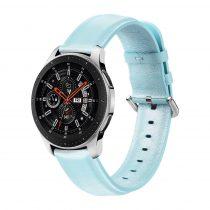 RMPACK Huawei Watch GT GT2 GT 2e Óraszíj Pótszíj 22mm Bőrszíj Style QU Világoskék