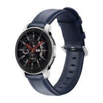 RMPACK Huawei Watch GT GT2 GT 2e Óraszíj Pótszíj 22mm Bőrszíj Style QU Sötétkék