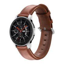 RMPACK Huawei Watch GT GT2 GT 2e Óraszíj Pótszíj 22mm Bőrszíj Style QU Barna