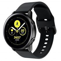 RMPACK Huawei Watch GT2e GT GT2 46mm Pótszíj Óraszíj Szilikon Szíj Elegant Series Fekete