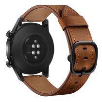 RMPACK Huawei Watch GT GT2 GT 2e Watch Magic Pótszíj Bőr Szíj Óraszíj Sötétbarna
