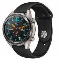 RMPACK Huawei Watch GT Pótszíj Szilikon Óraszíj Soft Series Fekete