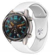 RMPACK Huawei Watch GT Pótszíj Szilikon Óraszíj Soft Series Fehér