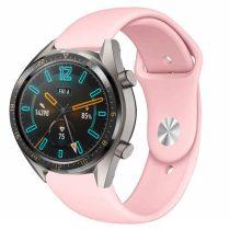 RMPACK Huawei Watch GT Pótszíj Szilikon Óraszíj Soft Series Rózsaszín