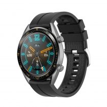 RMPACK Huawei Watch GT 46mm Szilikon Pótszíj Óraszíj Elegant-Sport Series Fekete